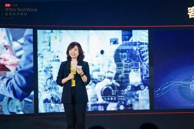 Jacqueline Shi, presidenta del Departamento de Servicios de Marketing y Ventas Globales, Cloud&AI (PRNewsfoto/HUAWEI CLOUD)