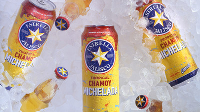 La Tropical Chamoy Michelada de Estrella Jalisco es una cerveza lager refrescante y sabrosa, una opción frutal del clásico cóctel de cerveza. Con un ABV del 3.5%, la lager contiene un jugo delicioso que combina piña, clamato y chamoy.