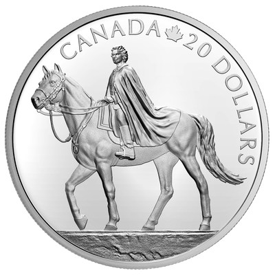 The Royal Canadian Mint's silver collector coin celebrating the Queen's 95th birthday (Reverse)