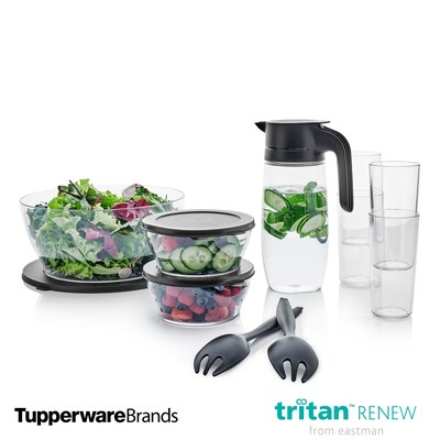 """I'm honored today to expand our ECO+ line with new product introductions and our new partnership with Eastman's Tritan™ Renew, which allows us to use recycled material in our more transparent designs. I know together, we'll work to reshape what is possible in regard to recycled material,"" said Bill Wright, Tupperware Brands executive vice president, Product Innovation."