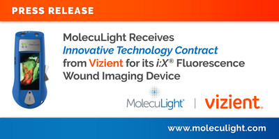 MolecuLight Receives Innovative Technology Contract from Vizient for its i:X® Fluorescence Wound Imaging Device