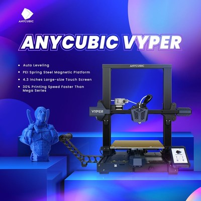 Anycubic to Launch Vyper, a Fully Auto-Leveling FDM 3D Printer that Innovates the 3D Printing Workflow