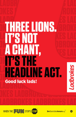 Ladbrokes ad now showing in London for the Euros