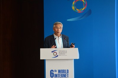 Ni Guangnan, an academician of the Chinese Academy of Engineering, talks about open-source chips at a forum during the 6th World Internet Conference in Wuzhen, Zhejiang province, on Oct. 21, 2019. [Photo/VCG]